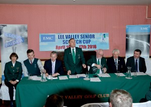 David Keohane, Managing Director, Tony Hurley, President, Patsy Ryan, Captain, John Moloughney, Chairman of the munster GUI and Vincent Drynan, Tournament Director