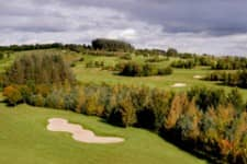 Aerial view of Lee Valley Course in Autumn