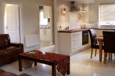 kitchen in holiday homes Lee Valley
